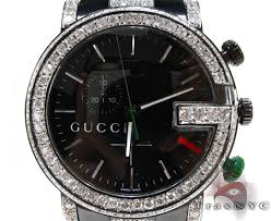 iced diamond gucci watch 2 mens gucci stainless steel