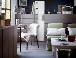 ikea office inspiration. A Workspace Made Up Of Slim Desk And Painted Chests Drawers Ikea Office Inspiration S