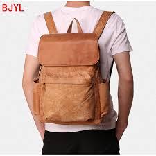 Travel bag <b>leather outdoor leisure</b> backpack <b>Men's</b> Bags <b>Men's</b> ...