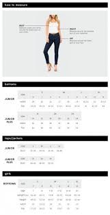 Jeans Size Chart Fashion Collection In 2019 Jeans Size