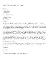 Cover Letter Sample For Caregiver Child Care Cover Letter For Resume