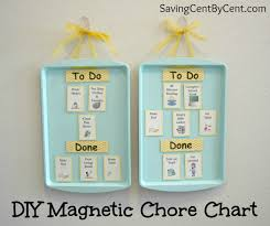 Diy Magnetic Chore Chart Saving Cent By Cent