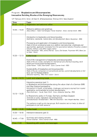 Program - Bioplastics and Biocomposites Innovative Building Blocks of the  Emerging Bioeconomy