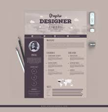 Resume Design Templates Free Creative Vintage Resume Design Template For Designers 13