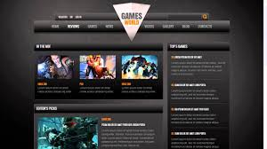 website template video game portal website template youtube