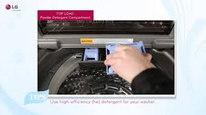 How Much He Detergent To Use Lg Top Load Washer Detergents And Additive Usage Tips Youtube