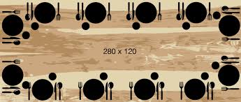 Quelles dimensions de table pour vos convives ? / Artmeta
