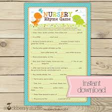 More Free Printable Baby Shower GamesBaby Shower Games Nursery Rhymes