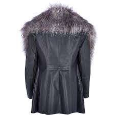 river island waterfall jacket with faux fur collar