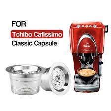 100% arabica coffee beans provide a delicious coffee drinking experience. For Tchibo Cafissimo Classic For Caffitaly K Fee Refillable Coffee Capsule Pod Stainless Steel Cafeteira Filters Tamper Spoon Coffee Filters Aliexpress