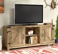 Industrial TV Stand Barn Wood Door Rustic Farmhouse Entertainment Center  Console Rustic Entertainment Center R44