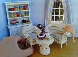 dollhouse miniature furniture. Perfect Dollhouse Dollhouse Miniature For Doll Home House Collectible Furniture  Wicker Accessories To  To Miniature Furniture