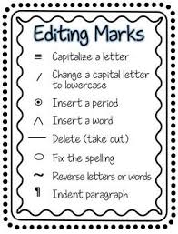 Editing Marks For Primary Editing Marks Editing Writing