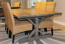 easy diy dining table fresh weathered gray fancy x farmhouse table with extensions