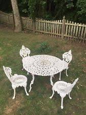 white cast iron patio furniture. vtg atq cast iron victorian french garden patio bistro dining set table chairs white cast iron patio furniture
