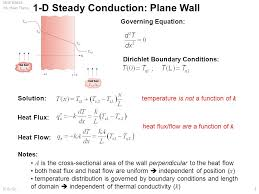 1 d steady conduction plane wall