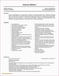 44 Reference Ultrasound Technician Resume Sample All About