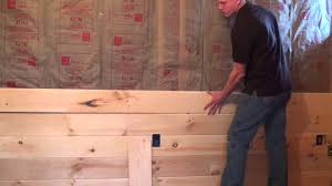 tongue and groove paneling intall