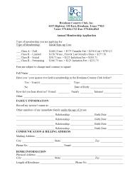 Application For Membership Membership Application Brenham Country Club