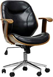 modern desk chair. Baxton Studio Rathburn Modern Office Chair, Walnut/Black Modern Desk Chair