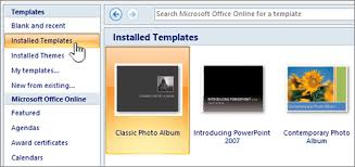 Microsoft Powerpoint Templates Apply A Template To A New Presentation Powerpoint
