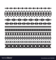 Set Of Borders And Lines Design Horizontal