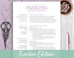 Teacher Resume | Etsy