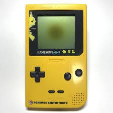 Pikachu Gameboy Light Game Boy Light Pikachu Yellow Body Only Junk