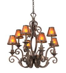 kalco 4261ac s205 ibiza 8 light 30 inch tortoise shell chandelier ceiling light in antique copper without glass mica s205