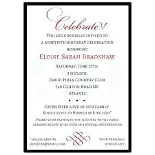 email birthday invitation 90th birthday invitations sample for party co card invites templates