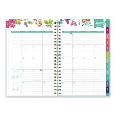 planners weekly monthly day designer cyo weekly monthly planner 8 x 5 white floral 2020