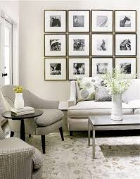 use of photo frames that are of diffe sizes and shapes creates such a stylish and an attractive look just like in the design below