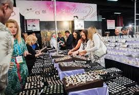attendees of the jck trade show check out diffe grades of sterling silver at the silver
