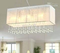 rectangle chandelier crystal lighting fixture fabric rectangle chandelier modern fashion art crystal pendant light living room light pillar candle