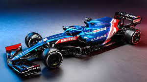Alpine reveal striking blue, white and red livery at 2021 F1 season launch