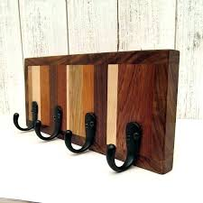 wooden key rack wall mounted letter holder and