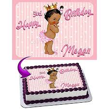Princess Baby Girl Cake Image Personalized Edible Image Cake Topper