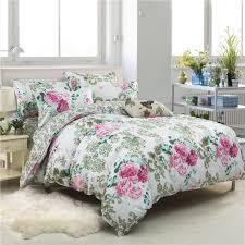 sookie fl print bedding set twin full queen king size duvet cover sets past style bedclothes soft bed linen velvet duvet cover flannel duvet from