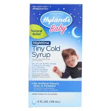 Hylands Homepathic <b>Cold Syrup</b> - Nighttime <b>Tiny</b> - <b>Baby</b> - 4 fl oz ...