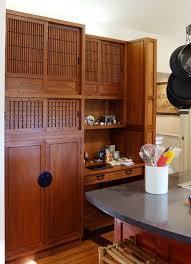 Modern Asian Kitchen Cabinets Storages Modest Kitchen Design White Oven Storage