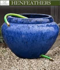hose pot w lip garden decor henfeathers
