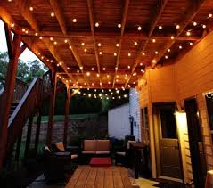 covered patio lights. Covered Patio Bulb String Lights Over Home Terrace: Full Size P
