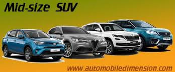 Crossover Suv Comparison Chart Mid Size Suv Comparison With Dimensions And Boot Capacity