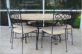 48 60 outdoor garden patio round mosaic marble dining table alicante