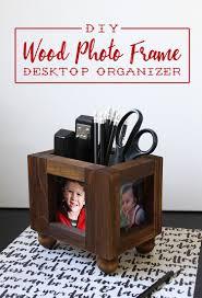 diy wood picture frame desktop organizer