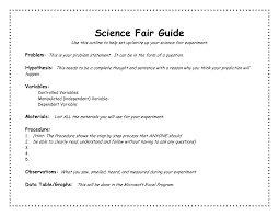 Science Fair Templates Science Fair Project Outline Template Academic Outreach Science