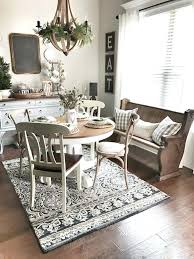 farmhouse dining room my farmhouse style corner rug under kitchen table beautiful homes of rug kitchen rug under kitchen table