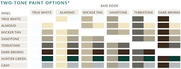 amarr garage door colors. Amarr Garage Door Color Chart Ppi Blog Colors D