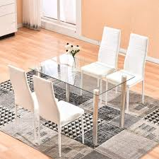 Amazoncom Dining Table With Chairs 4homart 5 Pcs Glass Dining
