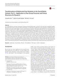 pdf transformation of adolescent r relations in the social a context part 2 application to r group processes and future directions for research